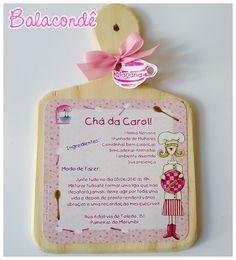 Convite Chá de Cozinha Mini Tábua by Balacondê, via Flickr