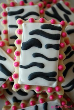 zebra cookies - Google Search