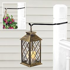 """Post Hangers - Set of 2  $14.98      Product #HC4127 - Easily hang potted plants, birdfeeders, wind chimes, lanterns and other outdoor ornaments from any standard 4"""" x 4"""" fence post. Set of two sturdy, metal rods resemble traditional wrought-iron. Installs instantly - no tools needed! Each holds up to 10 lbs. and is 13"""" L. Made in USA."""