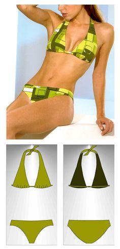 Bikini sewing pattern Samoa - Patrón de bikini Samoa