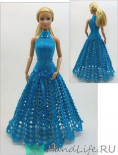 Beautiful doll clothes easy to crochet yourself with the swing series you can combine and make the most diverse models dresses hats and bags for your children and grandchildren so every barbie steffi petra susi sabine gets her very ownCrochet patterns: Do Crochet Doll Dress, Crochet Barbie Clothes, Knitted Dolls, Barbie Clothes Patterns, Clothing Patterns, Dress Patterns, Habit Barbie, Barbie Mode, Barbie Gowns
