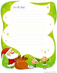 santa letter template lettre au pre nol julie cossette illustration