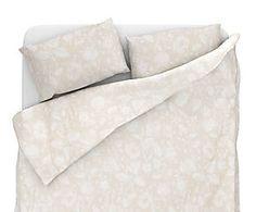 Parure copripiumino matr. in lino e cotone Alec - beige
