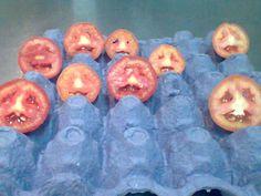 las rodajas de tomate q querian ser publico..