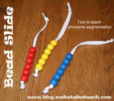 Bead Slide: A Tool for Teaching Phoneme Segmentation | Make, Take & Teach