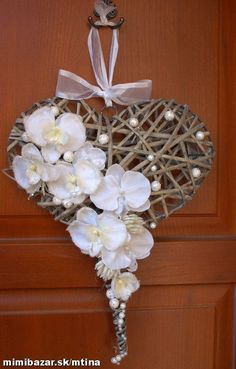 Made from recycle papers Easter Wreaths, Christmas Wreaths, Christmas Crafts, Christmas Ornaments, Heart Decorations, Valentine Decorations, Christmas Decorations, Diy And Crafts, Paper Crafts