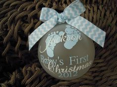 Baby's First Christmas Ornament by CraftsbyE on Etsy, $14.00    SO cute!