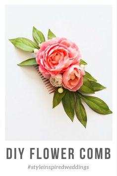 Try one of these gorgeous D.I.Y. flower combs. These flower combs are simple to make and do not take that much time. You can get super creative with them or keep them more on the simpler side. They are also the perfect little accessory for you bridal shower outfit.#weddingdiy #diyproject #flowercomb #diyflowercomb