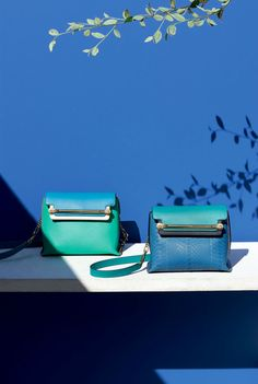 Chloe Bags 2015 | Chloe Turquoise/Blue Clare Shoulder Bag - Spring 2015