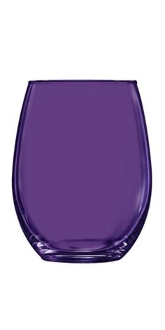 Purple Stemless Wine Glass - Additional Colors Available - 21 oz Set of 6 TableTop King Shades Of Purple, Deep Purple, Pink Purple, Purple Home, All Things Purple, Purple Stuff, Color Violeta, Purple Kitchen, Design Floral