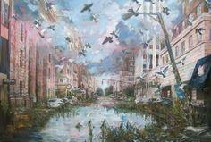 458 Janusz Orzechowski One hundred twenty years later oil on canvas 100x150cm 2017