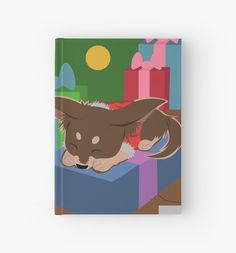Puppy Present Hardcover Journal By Thekohakudragon Dogs Pets Animals Christmas Holidays