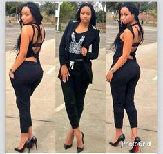 rocking a new hairstyle. Star Fashion, Womens Fashion, Black Goddess, Absolutely Fabulous, Full Figured, Pants Outfit, Top Ten, Swagg, Sexy Women