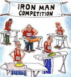 Iron Man Competition -- haha this is too funny! Pin it if you agree! Cartoon Jokes, Funny Cartoons, Funny Comics, Funny Jokes, That's Hilarious, Really Funny, The Funny, Funny Images, Funny Pictures
