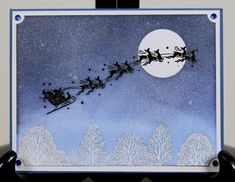 Santa sleigh by vesna - Cards and Paper Crafts at Splitcoaststampers