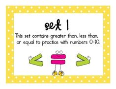 This math work station is 21 pages of  comparing numbers practice! It is differentiated with a set for numbers 1-10 and a set for numbers 11-20. Includes an I Can chart and student recording sheets. Enjoy! :)