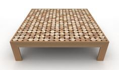 Sofia Coffee Table by MG12 is made of 327 wooden cylinders for an incredible result #uniquedesign #homedecor