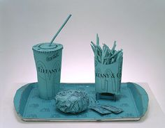 Tom Sachs, Tiffany Value Meal, 2000; Ink on printed paper and hot glue
