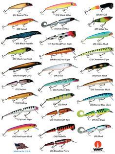 Pay attention to patterns and colors, charts like this one from Big Fork Lures are a big help.