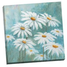 Daisy Life by Michael Saunders Painting Print on Wrapped Canvas