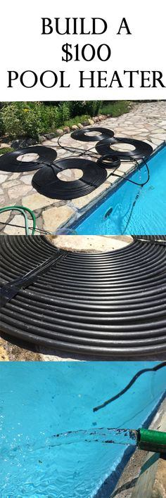 How to build a pool heater for under $100. It Really Works! On a sunny day, we add 12 degrees to the water going through the system.