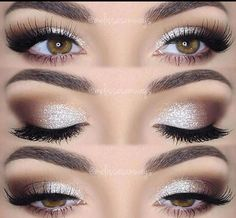 Coffee brown and white eye makeup. Glamorous wedding make up. Boho Bride make up. Wild bride make up Makeup Hacks, Makeup Goals, Makeup Inspo, Makeup Inspiration, Makeup Ideas, Makeup Trends, Makeup Geek, Makeup Style, Makeup Kit