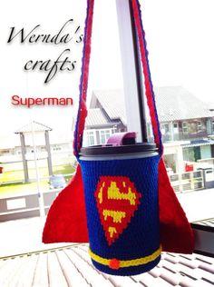 Crochet bottle cover( superman)