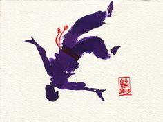 Encres : Capoeira – 385 [ #capoeira #watercolor #illustration]