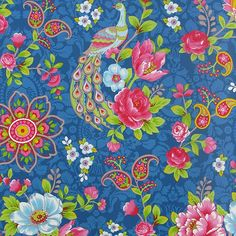 PiP Studio Flowers in the mix dark blue wallpaper Dark Blue Wallpaper, Kids Wallpaper, Blue Wallpapers, Wallpaper Ideas, Peacock Wallpaper, Wallpaper Samples, Pip Studio, Paradise Wallpaper, Pattern Paper