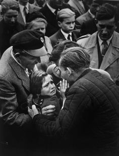 After being released from Soviet captivity a former German soldier was reunited with the daughter he hadn't seen for 12 years, West Germany 1956