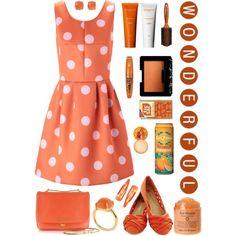 """Organized Orange"" by alice325 on Polyvore"