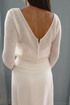 Wedding - Knit Madame Seguin : Madeleine Cardigan Wedding - Knit Madame Seguin : Madeleine Cardigan # Casual Outfits for dinner cardigans Wedding Dress Cardigan, Wedding Sweater, Dress With Cardigan, The Dress, Dress With Bow, Mohair Cardigan, Rehearsal Dinner Outfits, Dinner Gowns, Knit Fashion