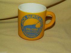 Jack Burtch Co Oil Spreading Paving Bakersfield Kern Co Calif Mug Cup Vintage