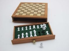Hey, I found this really awesome Etsy listing at https://www.etsy.com/listing/201520269/miniature-dollhouse-chess-plate-x-in-112