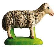 Standing sheep -  Mouton debout - Santon.  Size #3 - Grande, from the workshop of Marcel Carbonel.  Hand-made in Marseille, France.  Available at www.mygrowingtraditions.com