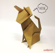 cardboard cat sculpture - Google Search