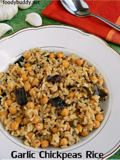 garlic chickpeas rice