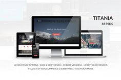 Titania - Multipurpose PSD Template by templaza on Creative Market