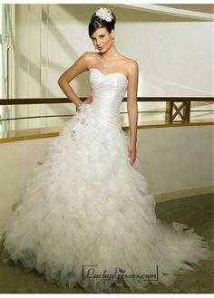 Beautiful Elegant Exquisite Taffeta & Tulle Sweetheart Wedding Dress In Great Handwork