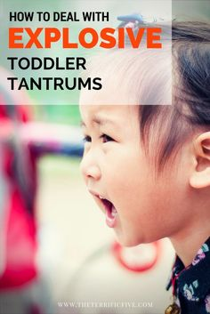 How to Deal with Explosive Toddler Tantrums: Terrible Two's and Treenagers are difficult times for moms, especially dealing with the toddler tantrums. Learn how to avoid the tantrums in the first place and how to calm the toddlers down if a tantrum did er Peaceful Parenting, Gentle Parenting, Parenting Advice, Practical Parenting, Natural Parenting, Parenting Styles, Foster Parenting, Toddler Behavior, Toddler Discipline