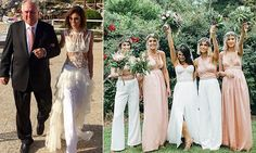 Why brides, and bridesmaids, are choosing to wear pants at weddings