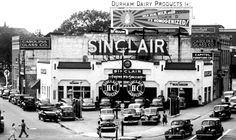 Sinclair Gas Station - 1947 - Durham, North Carolina