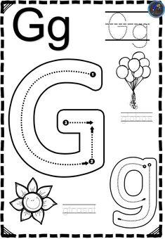 Free Printable Alphabet Worksheets, Preschool Number Worksheets, Preschool Writing, Preschool Learning Activities, Preschool Curriculum, Alphabet Activities, Arabic Alphabet For Kids, Alphabet Writing, Jolly Phonics