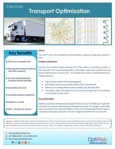 transportation planner scheduler optimization case-study 14503933 by optirisk via Slideshare