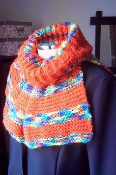 Gola de Tricô Multiuso - são diferentes formas de uso #infinityscarf #gola #tricot #crochet #fashionwinter