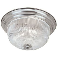 Livex Lighting 11-in W Brushed Nickel Ceiling Flush Mount