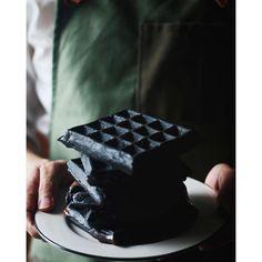 Black Buttermilk Charcoal Waffles