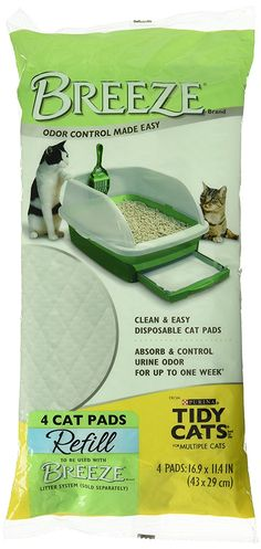 Tidy Cats Breeze Cat Pads 4 / pack ** Discover this special cat product, click the image : Cat litter