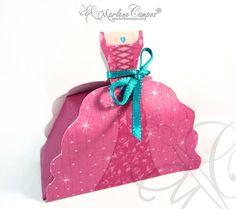 INSTANT DOWNLOAD  PDF Royal Princess Favor Box by PaperArtbyMC, $5.20