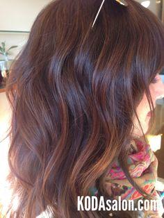 Sun-kissed brunette balayage. KODAsalon.com...liking the color